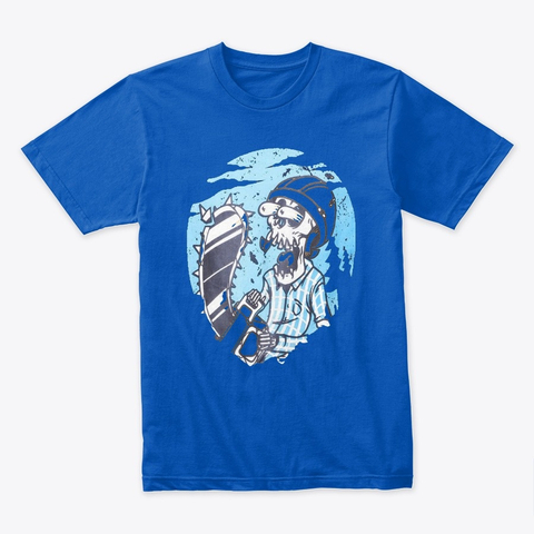 Zombie T Shirt Tee Royal Camiseta Front