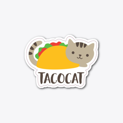 Taco Cat White Camiseta Front